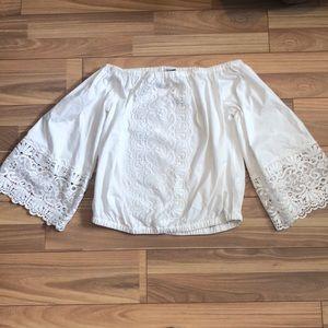 Off The Shoulder Crochet Lace Top